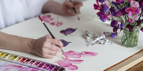 Watercolour Workshop - loose style painting, seasonal flowers & foliage tickets