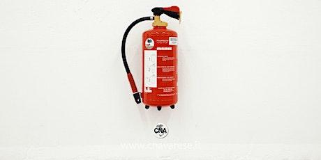 Corso addetto alla prevenzione incendio rischio basso biglietti