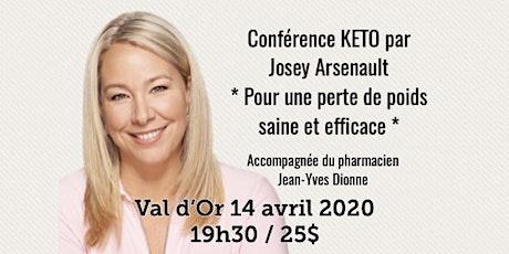 VAL D'OR - Conférence KETO Pour une perte de poids saine et efficace! 25$ billets