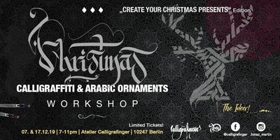 Calligraffiti Workshop | Create your Christmas present