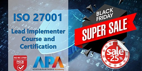 Black Friday Offer - ISO 27001 Lead Implementer Course & Certification billets