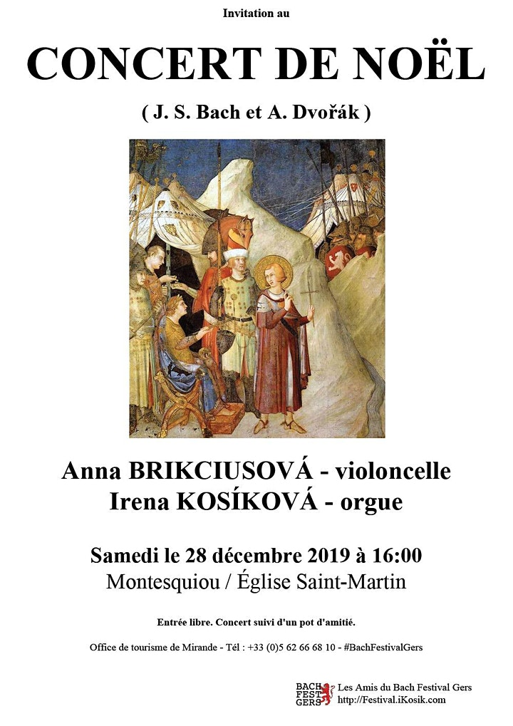 Concert de Noël à Montesquiou, Anna Brikciusová & Irena Kosíková image