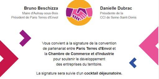 Signature de la convention de partenariat entre Paris Terres d'Envol et la CCI 93