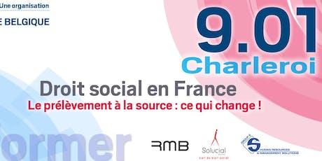 Se former - Droit Social en France : Prélèvement à la source, ce qui change !  billets
