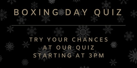 Boxing Day Quiz at Stanhill Court Hotel tickets