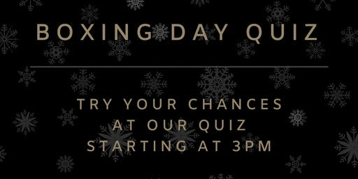 Boxing Day Quiz at Stanhill Court Hotel
