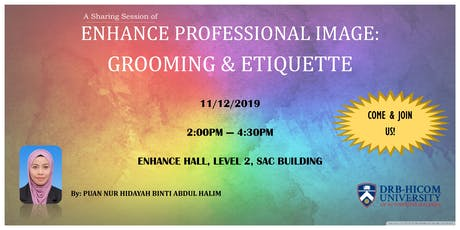 """""""Enhance Professional Image: Grooming & Etiquette"""" tickets"""