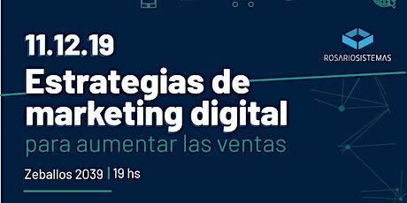 Workshop Estrategias de Marketing Digital Para Aumentar Las Ventas entradas