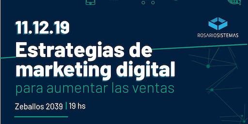 Workshop Estrategias de Marketing Digital Para Aumentar Las Ventas