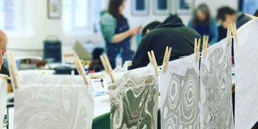 One-day Suminagashi Marbling and Bookbinding Workshop