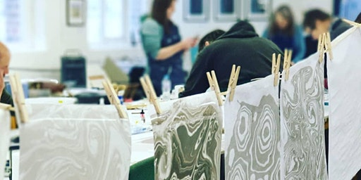 One-day Suminagashi Marbling and Bookbinding Workshop