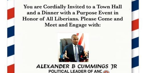 ANC TOWN HALL/DINNER with a PURPOSE