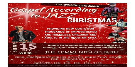 Kirk Whalum's 8th Annual Gospel According to Jazz Christmas Concert tickets