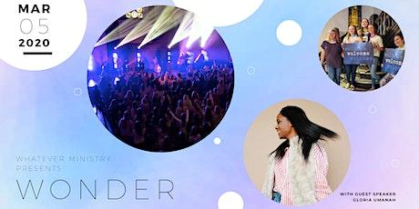 Wonder 2020 tickets