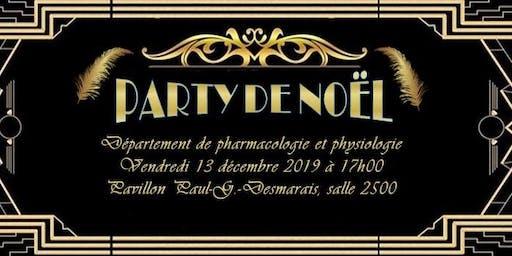 Party de Noël du Département de pharmacologie et physiologie