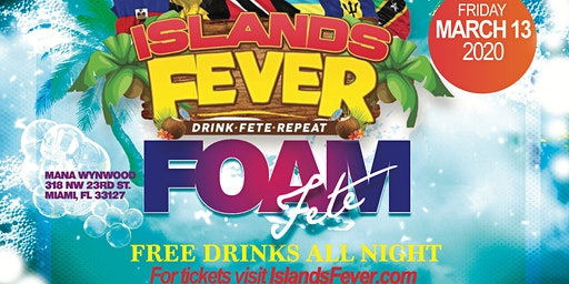 ISLANDSFEVER MARCH 13 SPRING BREAK MIAMI FREE DRINKS ALL NIGHT