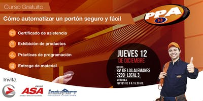 """Curso """"Armado y Automatización de portones"""" / Gratuito/ Córdoba 12/12"""