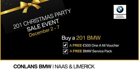 Christmas Party Sale Event at Conlans BMW Naas tickets