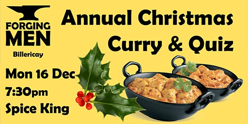 Forging Men - Christmas Curry & Quiz