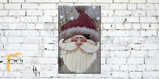 Santa on Wood - Artsy Angels Painting