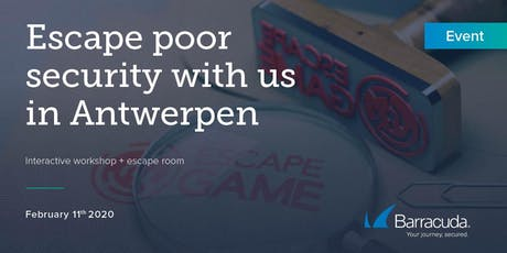 Barracuda | Escape Room - WAF - TEP Workshop Antwerpen tickets
