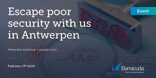 Barracuda   Escape Room - WAF - TEP Workshop Antwerpen