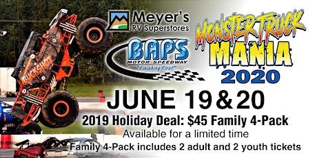 2020 Monster Truck Mania at BAPS Motor Speedway tickets