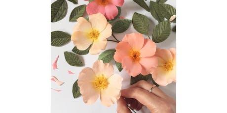 Paper Wild Rose Flower Workshop tickets