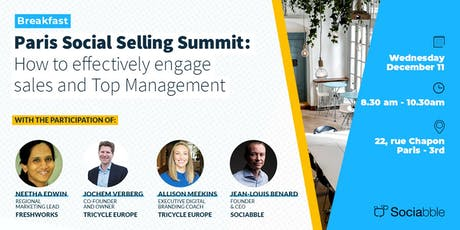 Paris Social Selling Summit: How to engage sales and Top Management billets