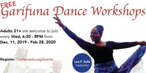 Free Garifuna Dance Workshops at Casita Maria