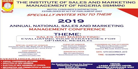 ANNUAL NATIONAL SALES AND MARKETING MANAGEMENT CONFERENCE 2019 tickets