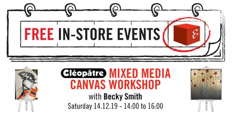 Cleopatre Mixed Media Canvas Workshop tickets