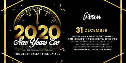"""The Great Ballantyne Gatsby"" NYE Party at Gibson"