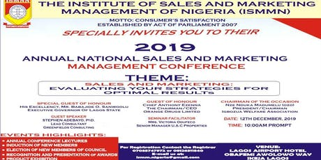 SPECIAL INVITATION FOR ANNUAL NATIONAL SALES AND MARKETING MANAGEMENT CONFE tickets