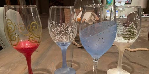 Festive Wine Glass PAINT NIGHT