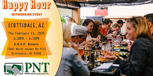 02/13/20 PNT North Scottsdale Happy Hour Networking Event