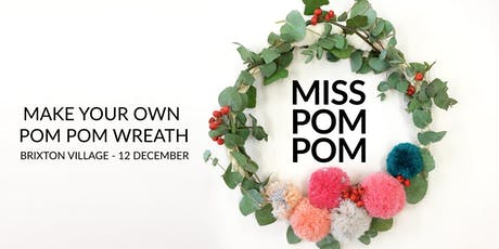 Make your own Pompom Wreath tickets