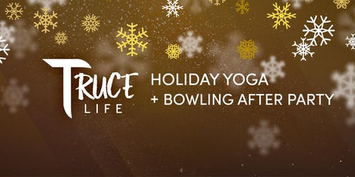 Let's get the holidays started with yoga and bowling!