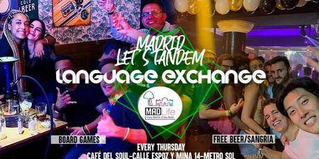 Madrid Language Exchange & Party! Free Beer/ Sangria! tickets