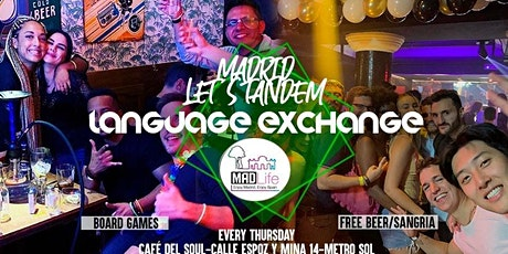 Madrid Language Exchange & Party! Free Beer/ Sangria! entradas