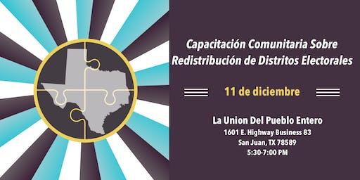 Capacitación Comunitaria Sobre Redistribución de Distritos Electorales