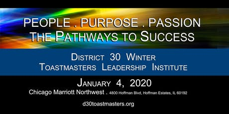 "D30 Winter TLI 2020 ""People, Passion, Purpose""   Keynote Speaker - Pat Johnson, DTM, PIP   Round 2 Club Officer Training tickets"