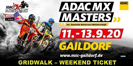 57. Int. ADAC Motocross Gaildorf  - ADAC MX Masters - Finale 2020 Tickets