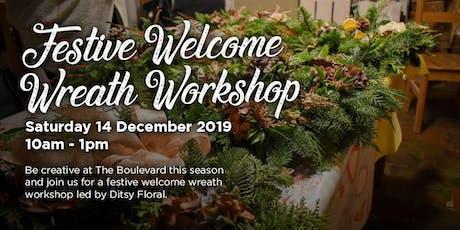 Festive Welcome Wreath Workshop tickets