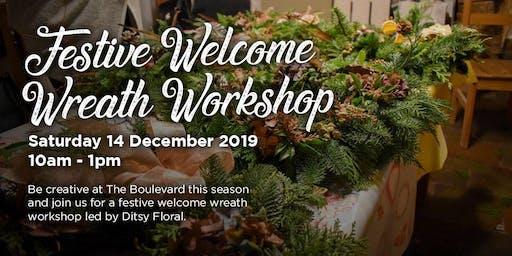 Festive Welcome Wreath Workshop