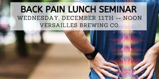 FREE Back Pain Lunch Seminar - Dec. 11