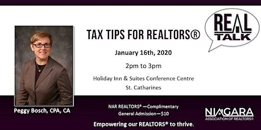 NAR REAL Talk - Income Tax for REALTORS®