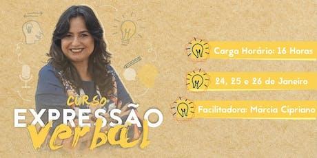 Curso de Expressão Verbal com Márcia Cipriano- Fortaleza- CE ingressos