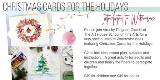 Introduction to Watercolors Holiday Class