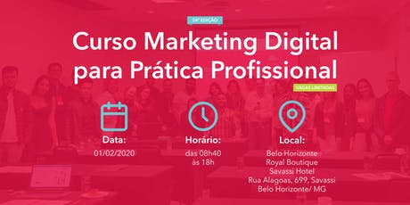 Curso Marketing Digital para Prática Profissional - 01/02/2020 - BH ingressos